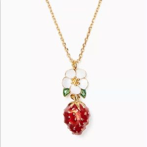 Kate Spade New Perfect Picnic Strawberry Necklace